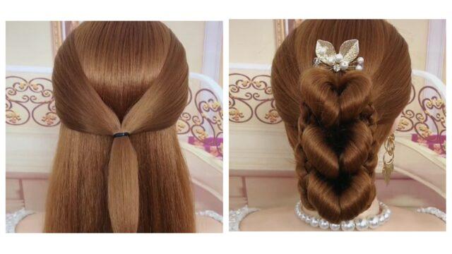 DIY Heart Hairstyle Tutorial(Video 0092)