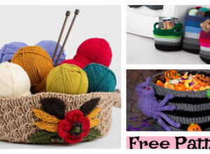 Beautiful Knitting Basket – Free Patterns