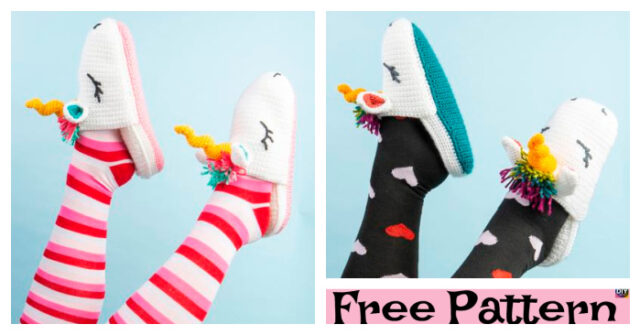 Crochet Unicorn Slippers Free Pattern