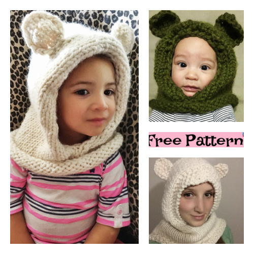 Knitted Hooded Cowl Free Patterns