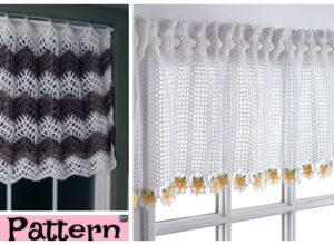 Pretty Crochet Window Topper – Free Patterns