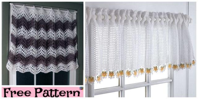 Pretty Crochet Window Topper – Free Patterns