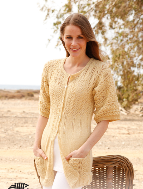 Pretty Knitted Lace Vest  - Free Patterns