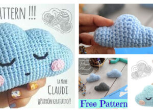 Crochet Amigurumi Cloud  Free Patterns