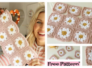 Crochet Daisy Granny Square  – Free Pattern