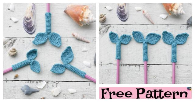 Crochet Mermaid Tail Pencil Topper – Free Pattern