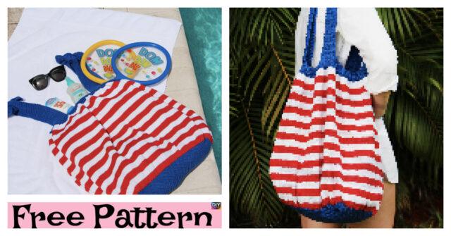 4th of July Beach Bag – Free Knitting Pattern