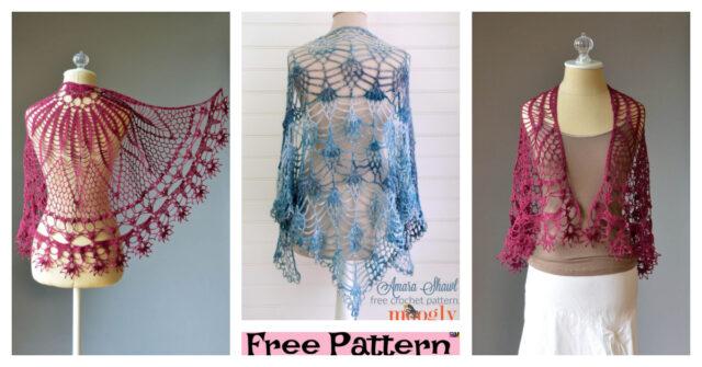 Pretty Crochet Lace Shawl – Free Pattern
