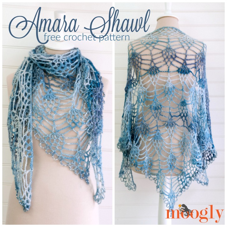 Pretty Crochet Lace Shawl - Free Pattern