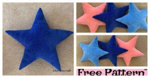 Crochet Star pillow - Free Pattern