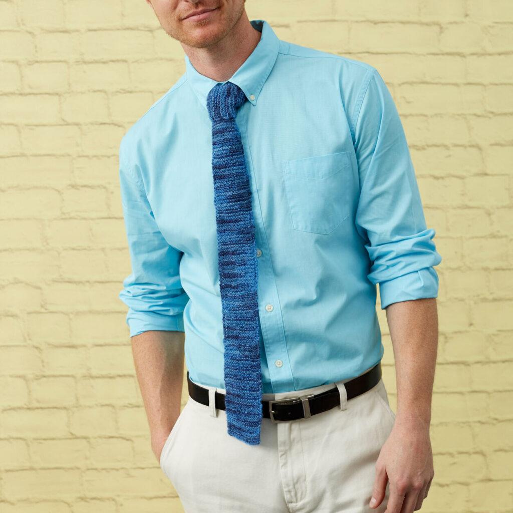 Knitted Garter Stitch Neckties - Free Pattern