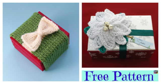 Pretty Knitted Gift Topper – Free Patterns