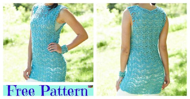 Beautiful Crochet Summer Tunic – Free Pattern