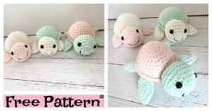 Crochet Plush Turtle Amigurumi - Free Pattern