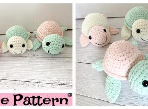 Crochet Plush Turtle Amigurumi – Free Pattern