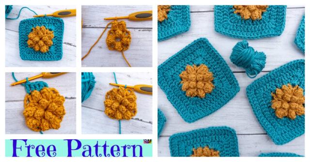 Crochet Sky Granny Square – Free Pattern