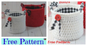 Crochet Small Basket With Handles - Free Pattern
