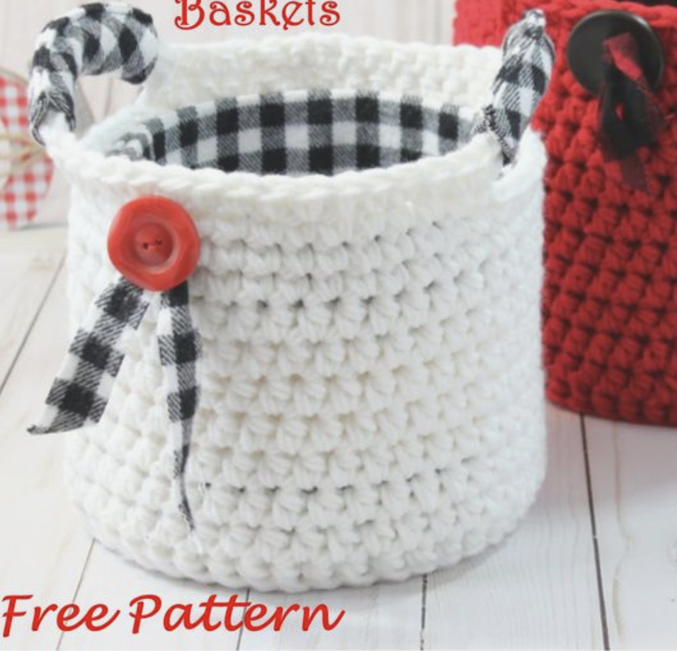 Crochet Small Basket With Handles - Free Pattern1