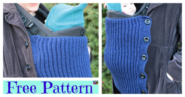 Knitted Baby Wearing Blanket – Free Pattern