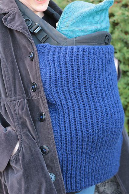 Knitted Baby Wearing Blanket - Free Pattern