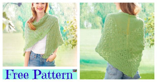 Pretty Lace Knit Shawl Free Pattern