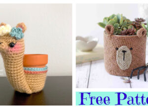 Adorable Crochet Animal Planter – Free Patterns
