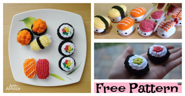 Adorable Crochet Sushi Amigurumi – Free Pattern