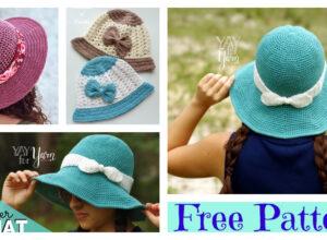 Crochet Brimmed Summer Hat – Free Patterns