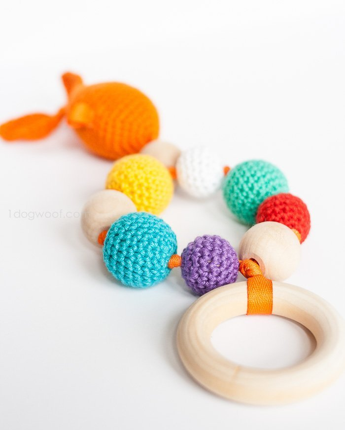 Crochet Bubbles and Goldfish Teether - Free Pattern