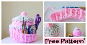Crochet Cupcake Pillow Holder - Free Pattern