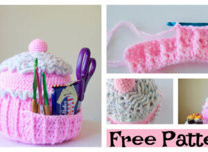 Crochet Cupcake Pillow Holder – Free Pattern