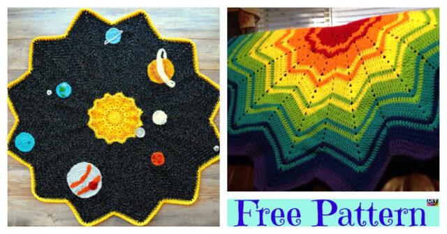 Crochet Rainbow Ripple Baby Blanket – Free Pattern