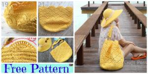 Crochet Shell Stitch Beach Tote & Sun Hat - Free Patterns