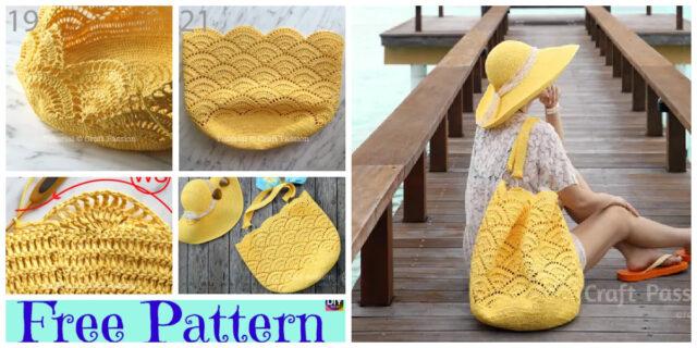 Crochet Shell Stitch Beach Tote & Sun Hat – Free Patterns
