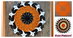 Cute Crochet Halloween Doily - Free Patterns