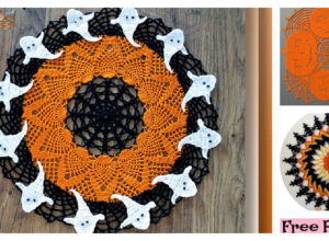 Cute Crochet Halloween Doily – Free Patterns