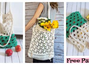 Easy Crochet Market Bag – Free Patterns