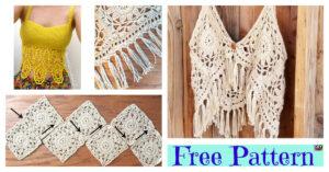 Pretty Crochet Boho Tank Top - Free Patterns