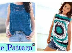 Pretty Crochet Summer Top – Free Patterns