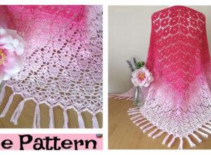 Pretty Crochet Triangle Shawl – Free Pattern