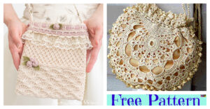 Pretty Crochet Wedding Bag - Free Patterns