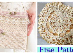 Pretty Crochet Wedding Bag – Free Patterns