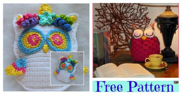 Adorable Crochet Unicorn Owl – Free Patterns