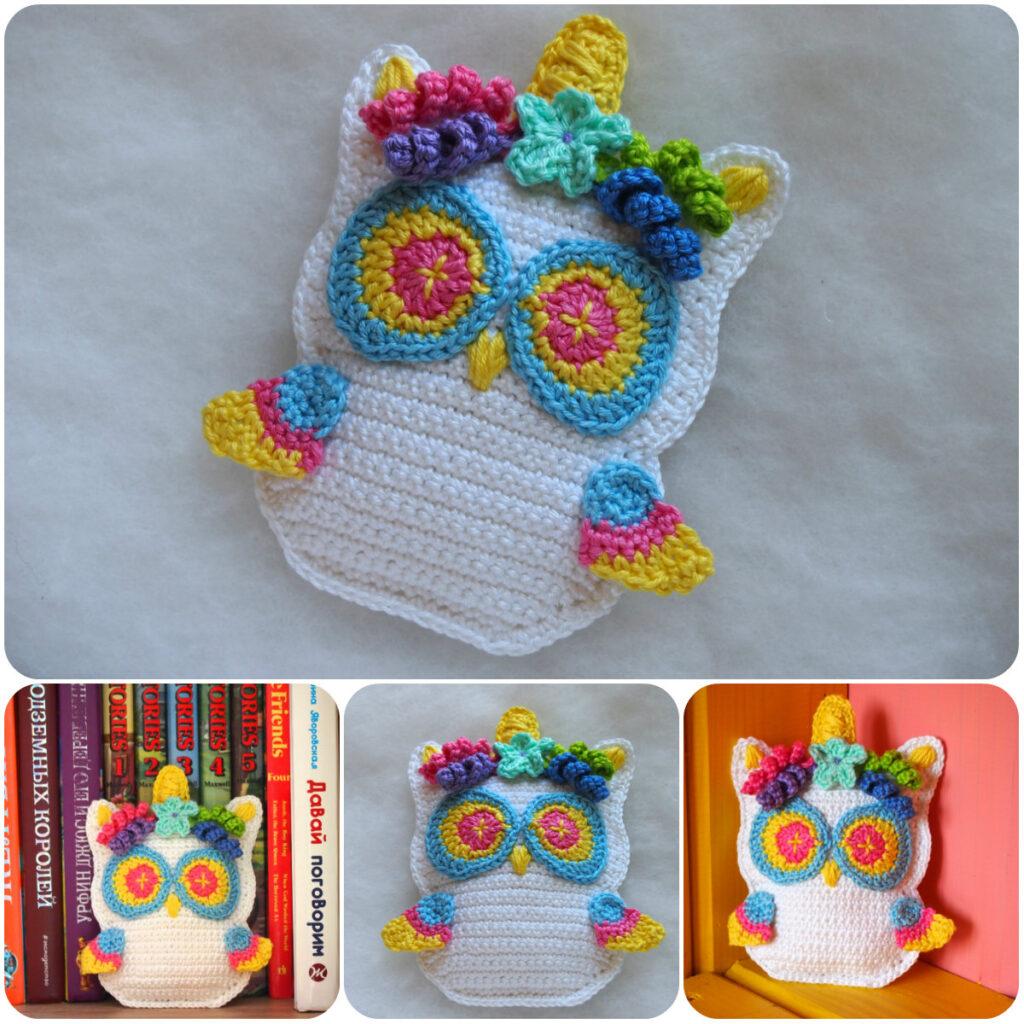 Adorable Crochet Unicorn Owl - Free Patterns