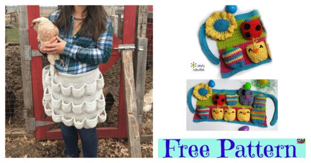 Crochet Egg-cellent Apron – Free Patterns