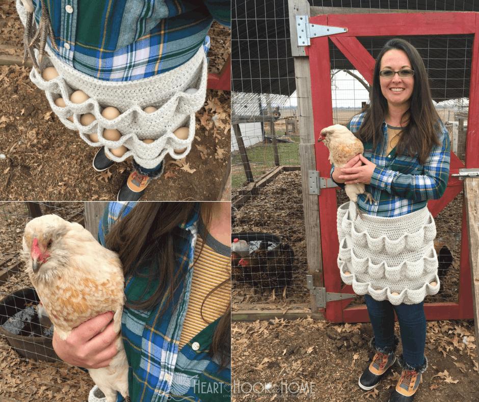 Crochet Egg-cellent Apron - Free Pattern