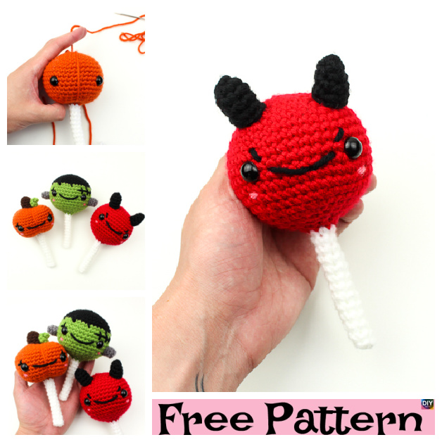 Crochet Monster Cake Pops - Free Patterns