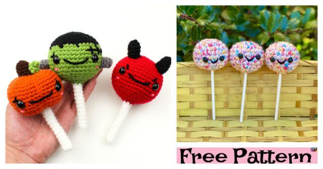 Crochet Monster Cake Pops – Free Patterns