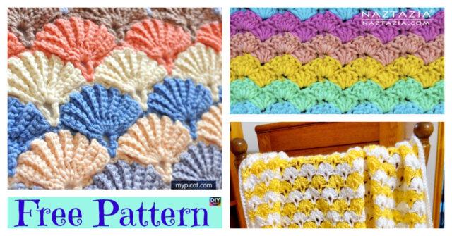 Unique Crochet Shell Stitch Blanket – Free Patterns