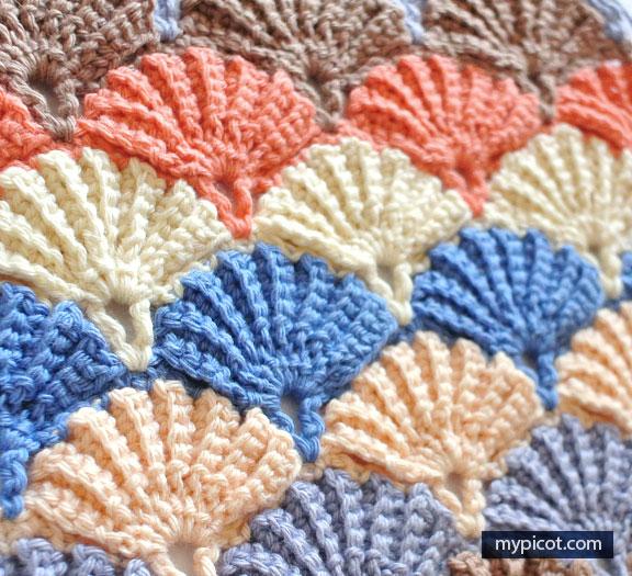 Crochet Shell Stitch Blanket - Free Patterns